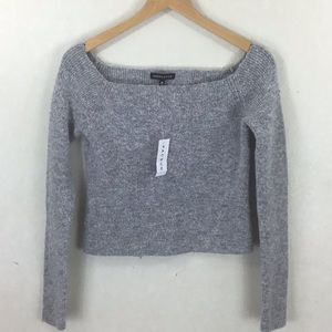 NWT KENDALL & KYLIE Off the Shoulder Crop Sweater